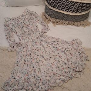 Chiffon Ruffled Garden Party Dress